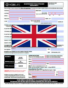 VoxxLife UK Practitioner Agreement Image
