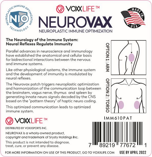 Neurovax Patches Use Instructions
