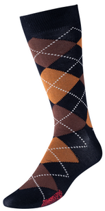 VoxxLuxe Mercerized Cotton Dress Sock Argyle