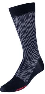 VoxxLuxe Mercerized Cotton Dress Sock Herringbone Image