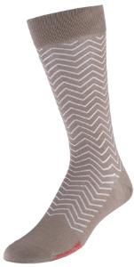 VoxxLuxe Mercerized Cotton Dress Sock Waves Image