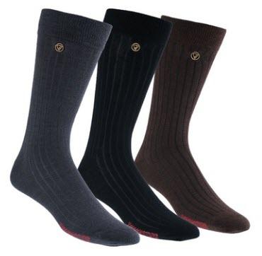 VoxxLuxe Merino Wool Dress Socks Image